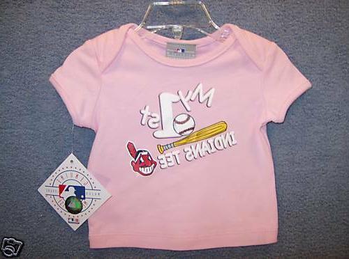 cleveland indians mlb girls t shirt infant