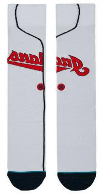 Cleveland Indians Stance MLB Home White Jersey Crew Socks La