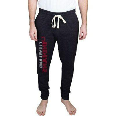 cleveland indians pendulum tapered jersey pants charcoal