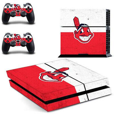 Cleveland Indians PS4 Skin Sticker Decal Vinyl Console+2 con