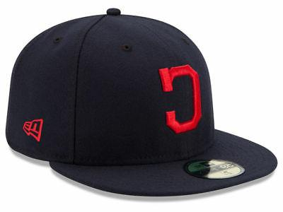 cleveland indians road 59fifty fitted hat dark