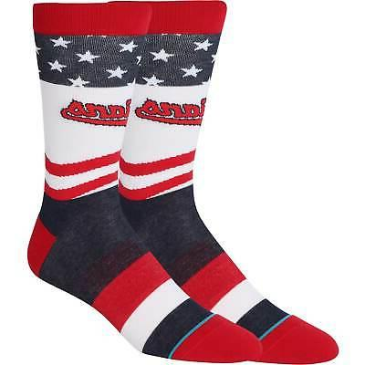 cleveland indians stars and bars crew socks