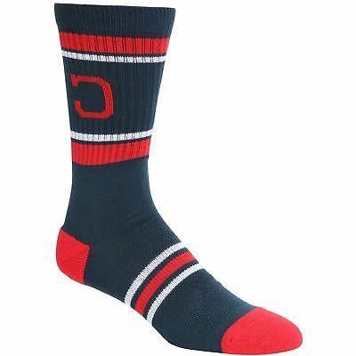 cleveland indians stripe crew socks navy