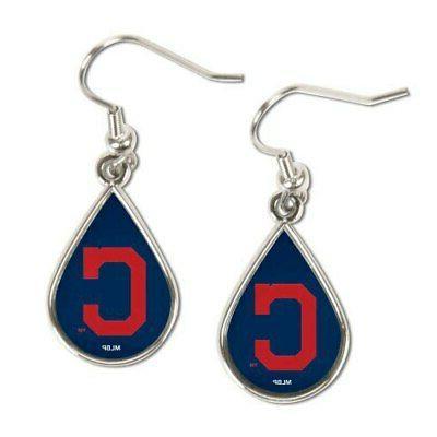 cleveland indians tear drop dangle earrings