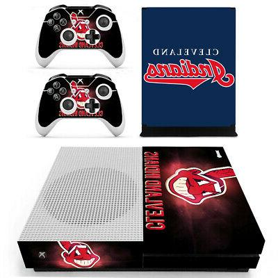 Cleveland Indians XBOX ONE S Skin Sticker Decal Vinyl Consol