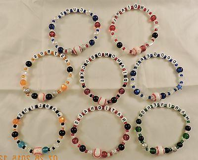 major league baseball team bead bracelets new