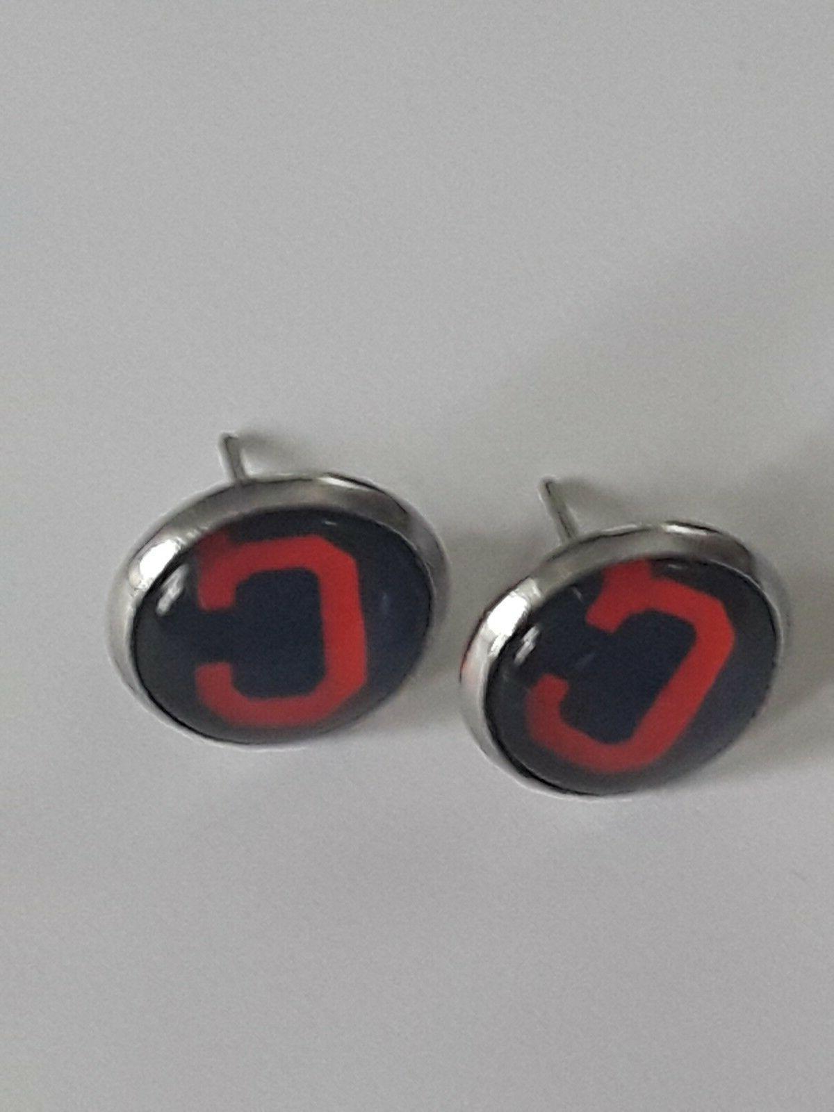 mlb cleveland indians 12mm stud earring set