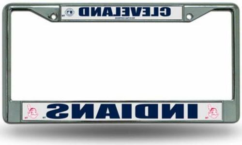 mlb cleveland indians chrome license