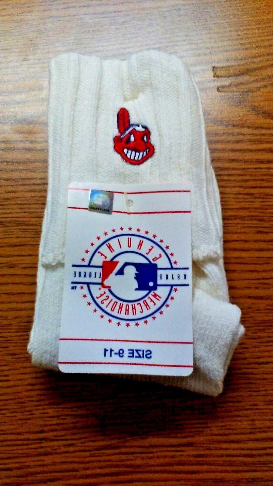 mlb cleveland indians fold over socks size