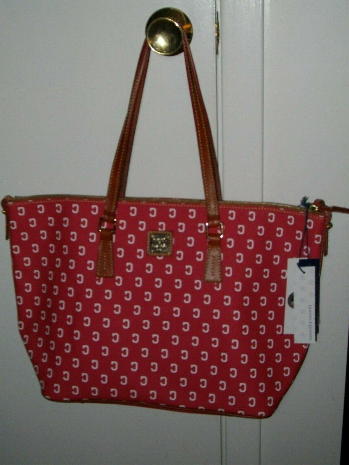 New & Bourke MLB Indians Zip Top Shopper Shoulder Bag
