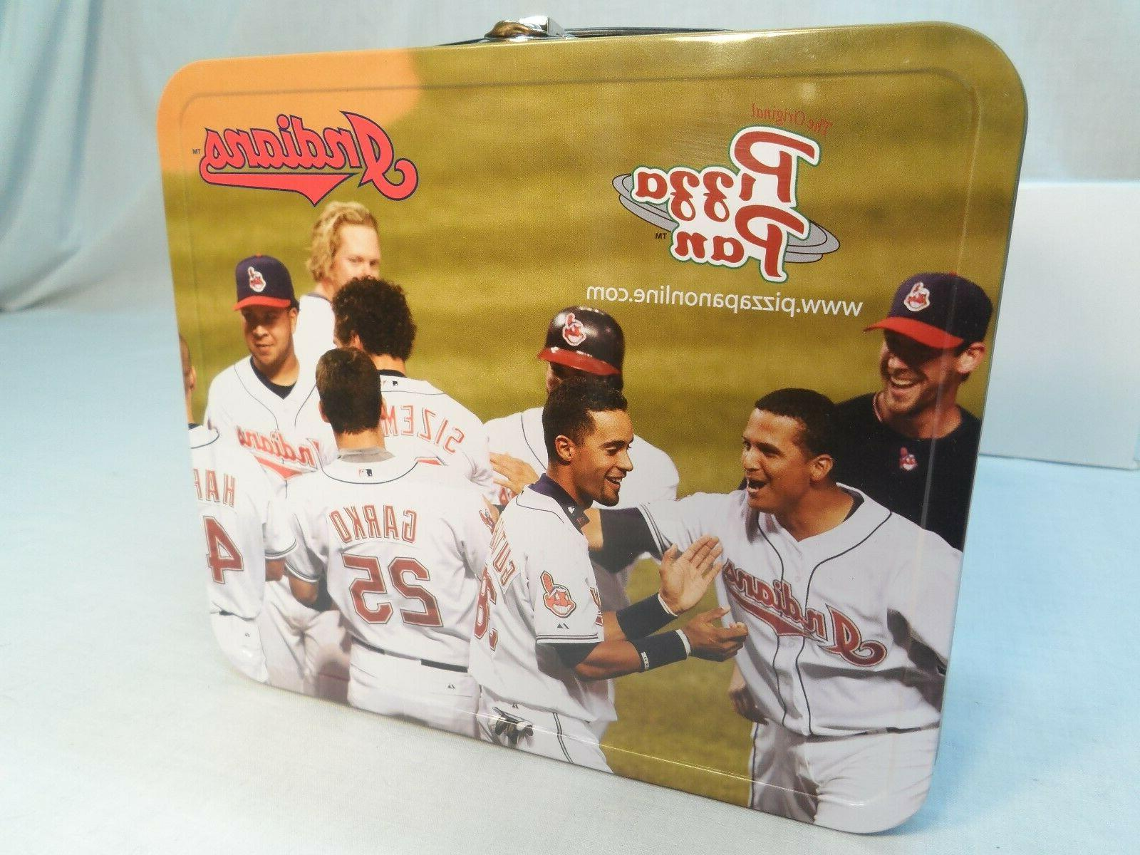 pizza pan cleveland indians metal lunchbox