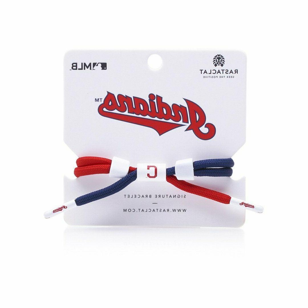 Rastaclat Cleveland Indians Bracelet, MLB Adjustable