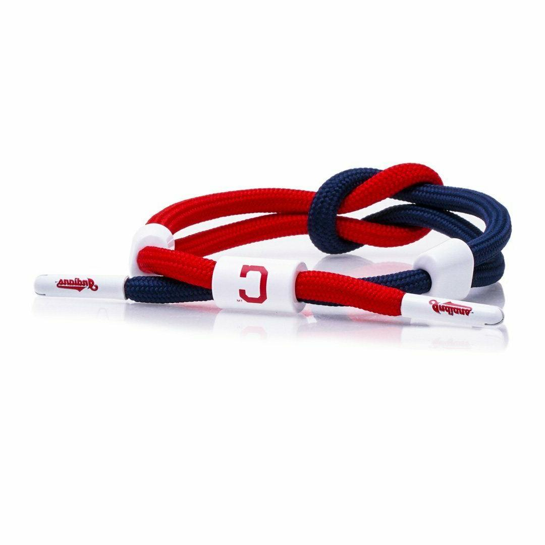 rastaclat cleveland indians outfield bracelet mlb adjustable