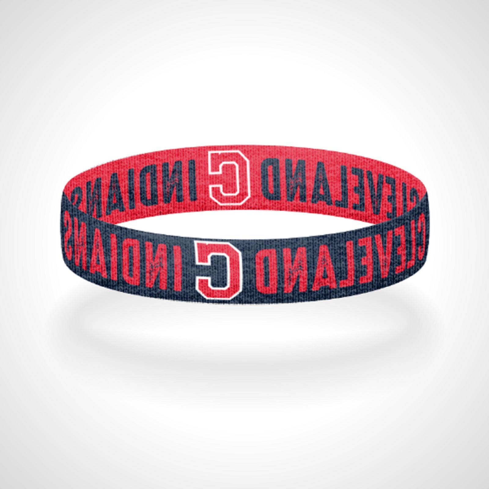 reversible cleveland indians bracelet wristband