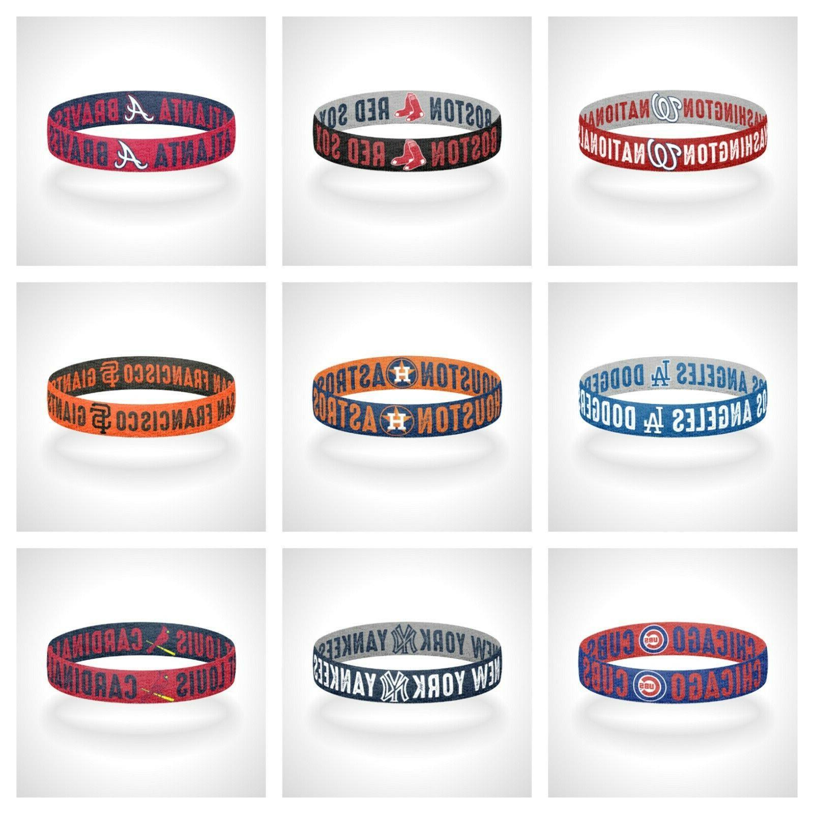 reversible mlb teams bracelet elastic stretch bracelet