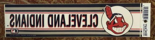 vintage 1980s cleveland indians bumper sticker chief