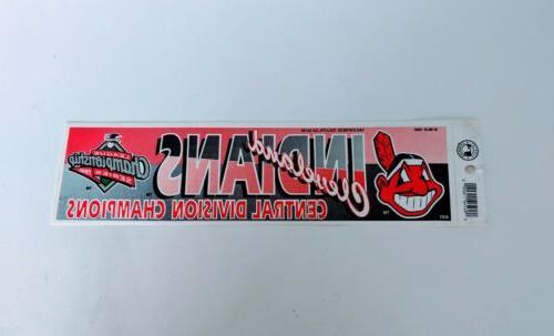 vintage cleveland indians baseball bumper sticker mlb