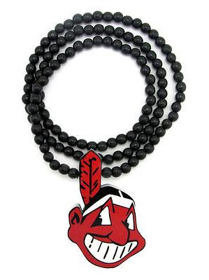 wooden cleveland indians pendant piece and 36