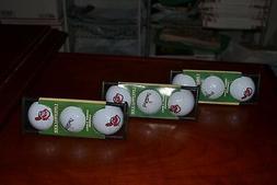 LinksWalker Cleveland Indians 12 Golf Balls with 4 CaddiClip