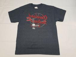 Mens Cleveland Indians Baseball Shirt Heather Blue Red Text