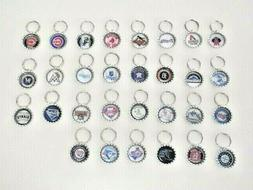 MLB Baseball Team Key Chains - Choose From 30 Teams + Mom, D