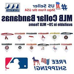 Pets First MLB Cat and Dog Collar Bandana - MLB Licensed, Re