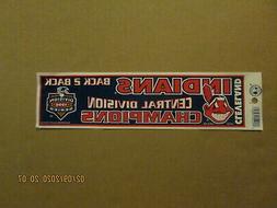 MLB Cleveland Indians 1996 Back 2 Back Central Division Cham