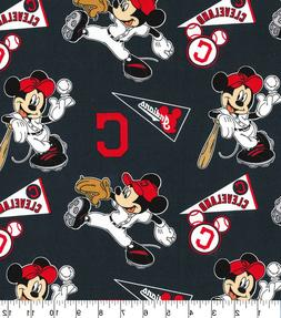 MLB - CLEVELAND INDIANS BASEBALL - MICKEY 100% Cotton Fabric