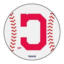 Fan Mats Mlb Cleveland Indians Block C Baseball Mat 26 Diame