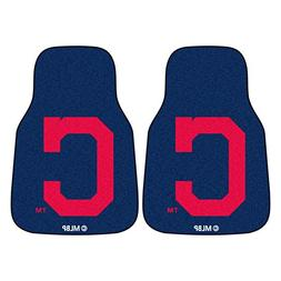 "MLB Cleveland Indians ""Block-C"" Carpeted Car Mat , 18"" x 27"""