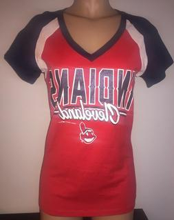 MLB CLEVELAND INDIANS CHIEF WAHOO Women's SS Short Sleeve Gl