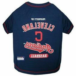 Pets First MLB Cleveland Indians Dog Tee Shirt, Medium