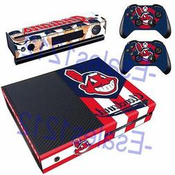 MLB Cleveland Indians Vinyl Skin Decals Stickers for Xbox on