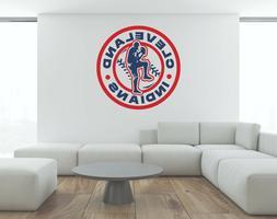 MLB Cleveland Indians Wall Decal Baseball Art Vinyl Color De
