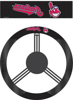 MLB Cleveland Indians Poly-Suede Steering Wheel Cover