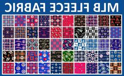 "MLB Fleece Fabric All Teams Sports Collection - 60"" Wide - S"