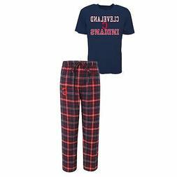 MLB Men's Cleveland Indians Halftime Pajamas Shirt & Pant Sl