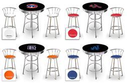 mlb themed black bar table set