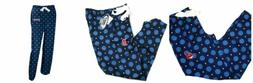 MLB Women's Headliner Pajama Pants Lounge Bottoms Baseball L
