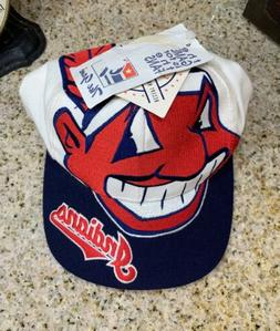1990's Cleveland INDIANS   THE GAME / SNAPBACK HAT!