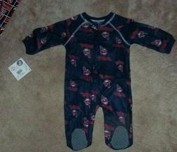 NEW MLB Cleveland Indians Baby One Piece Loungewear Sleepwea