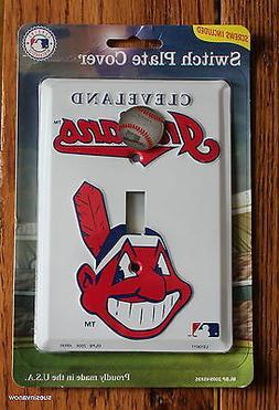 New Cleveland Indians Baseball MLB Licensed Light Switch Pla