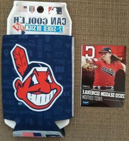 NEW Cleveland Indians Can Cooler Koozie Chief Wahoo + Schedu