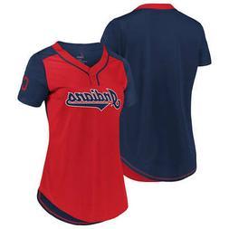 New MLB Cleveland Indians Majestic Women's Cool Base T-Shirt