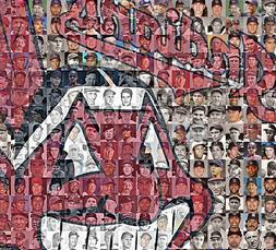 Cleveland Indians Photo Mosaic Print Art using 150 past and