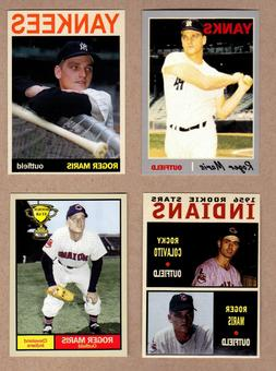 Roger Maris lot of 4: Rookie year/61 HRs/with Colavito/Cleve