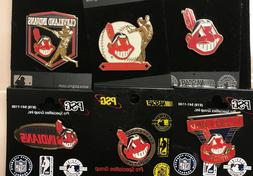 Set of 6 Cleveland Indians Chief Wahoo Logo Collector Pins M