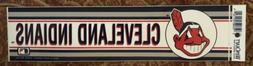 Vintage 1980's Cleveland Indians Bumper Sticker Chief Waho