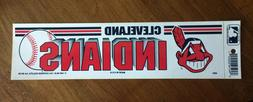 Vintage Cleveland Indians 1989 Bumper Sticker NOS Old Stock