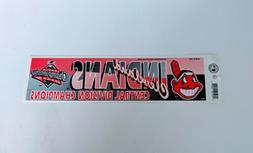 Vintage Cleveland Indians Baseball Bumper Sticker MLB Divisi